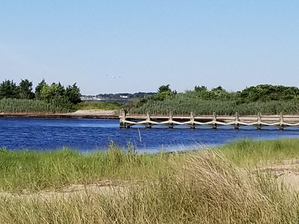 shows a canal leading to Great South Bay on South Shore Long Island