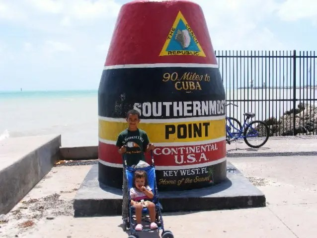 Iconic Southern most point of the continental U.S. not far when camping at Sugarloaf Key