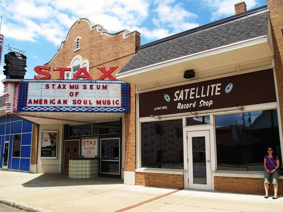 Shows the front of Stax Studios