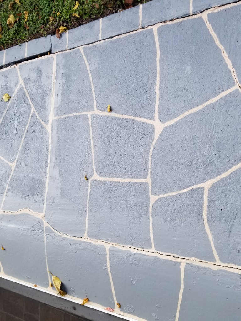hand painted slate on concrete to make an outdoor room for living in south Florida
