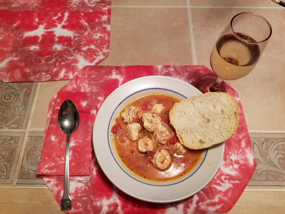 Photo of seafood stew from a Valentine Day recipe