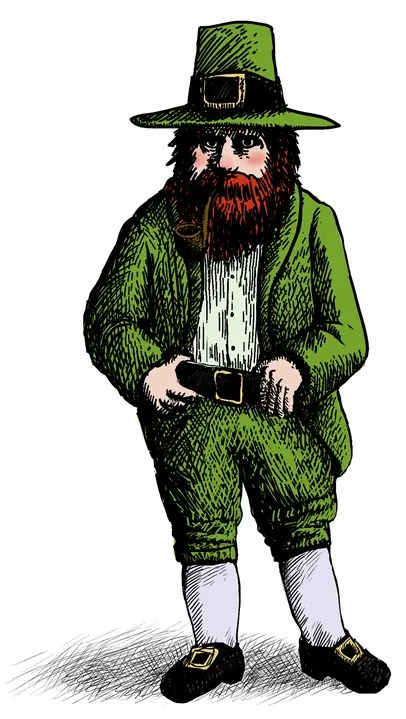 modern depiction of the Irish Fairy Tale creature of the Leprechaun