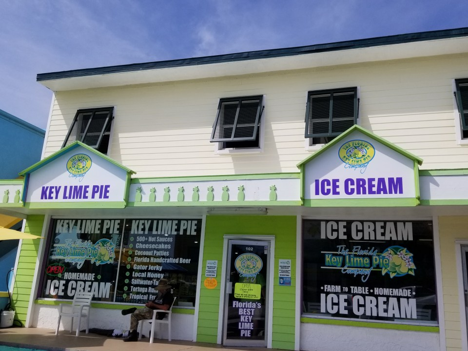 Store front for Key Lime Pie off the islands of Florida