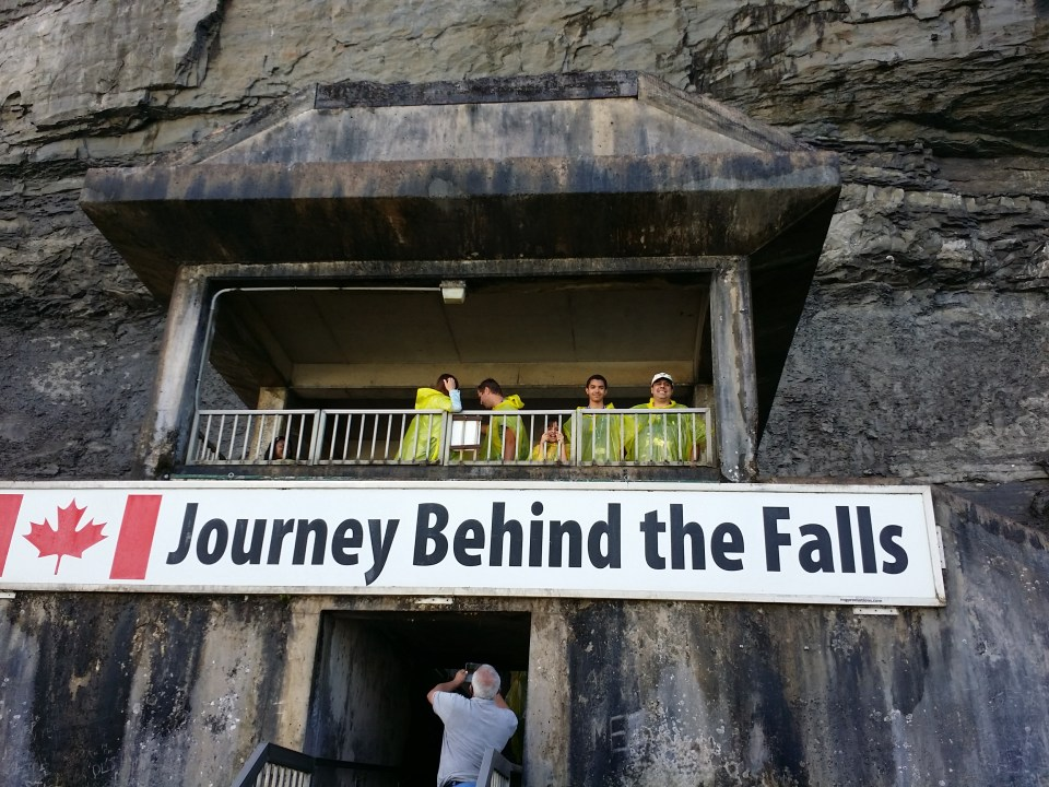 Journey behind the falls sign