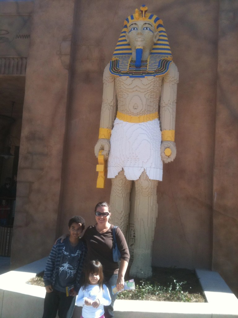 Giant Egyptian made from Legos in Legoland FL