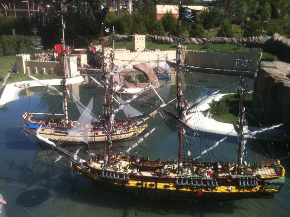pirate ship made of Legos at Legoland FL