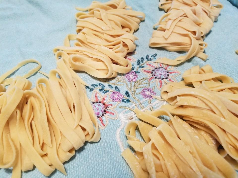 fettucine made with homemade pasta recipes