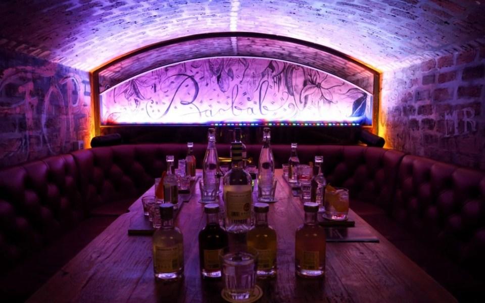inside of a gin bar in Scotland
