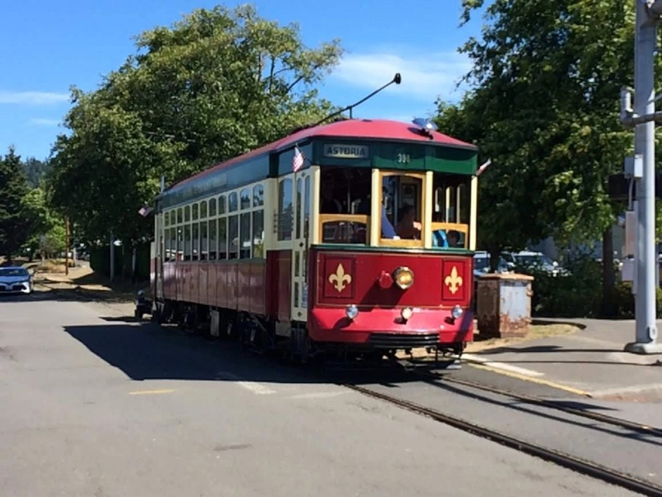 the historic trolley will take you to Astoria restaurants and sights