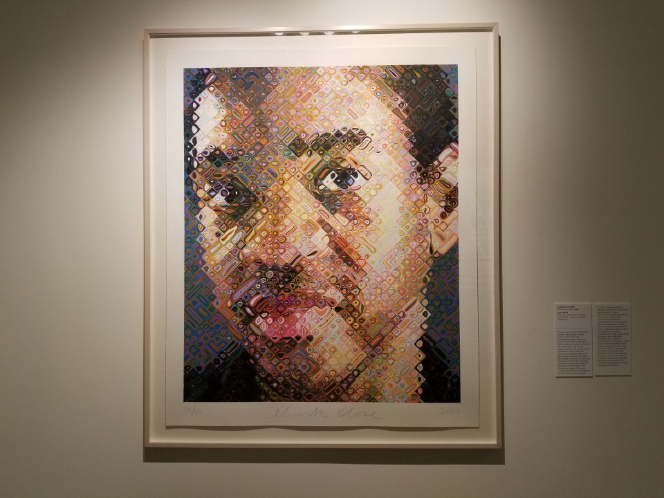 See art work by Chuck close is a thing to do in Jacksonville FL