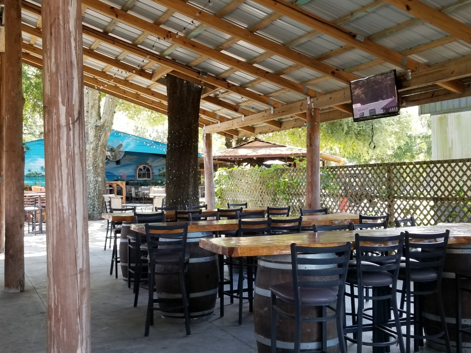 patio for tasting blueberry wines