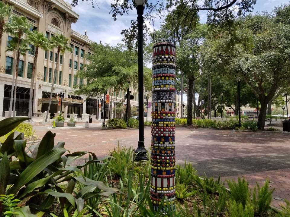 things to do in Jacksonville FL, view art in downtown park