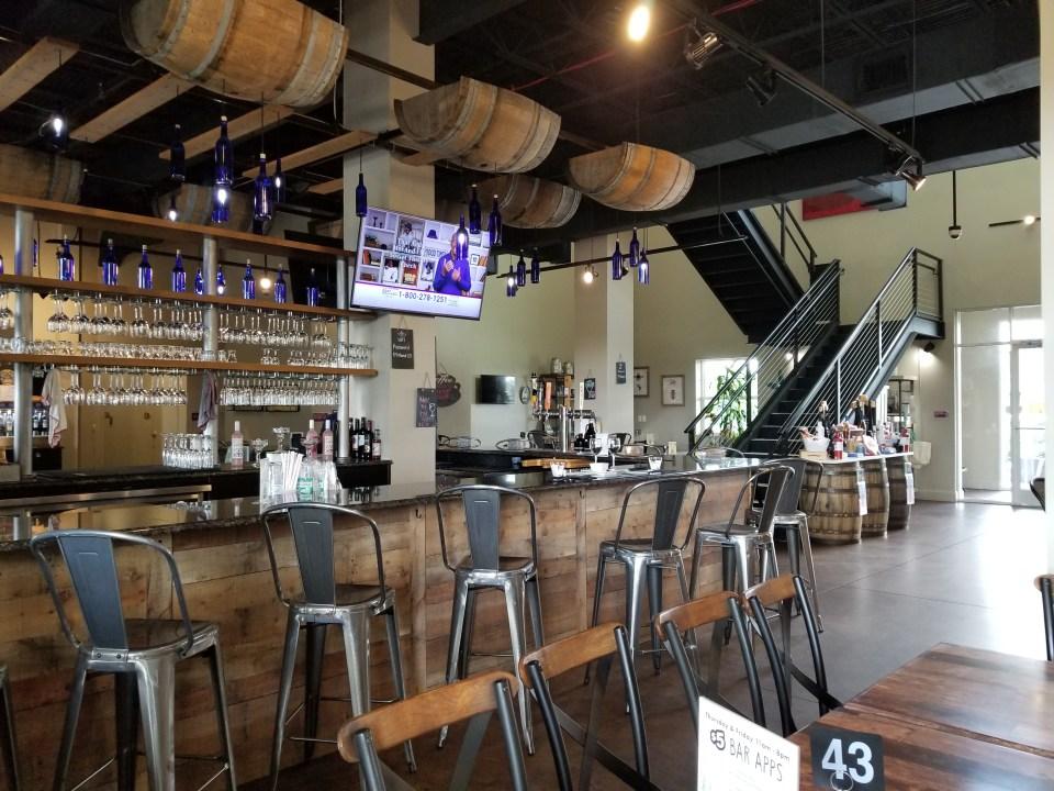 bar at Formosa Gardens that creates blueberry wine