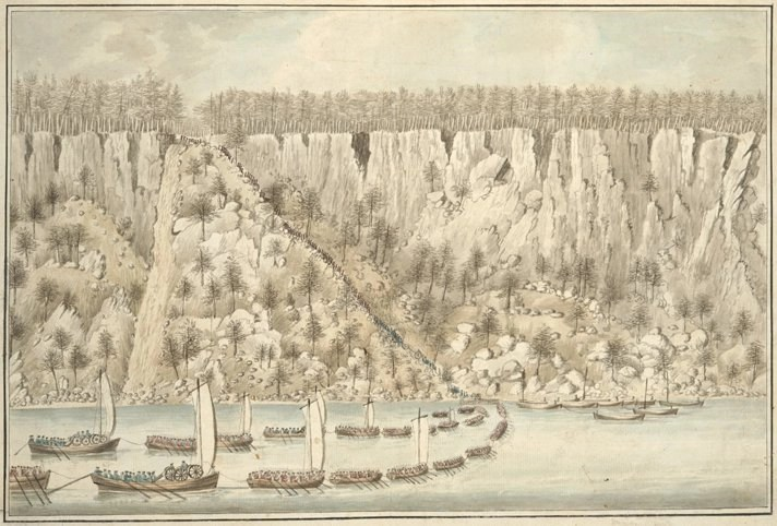 picture by Thomas Davies of history travel to New Bridge Landing