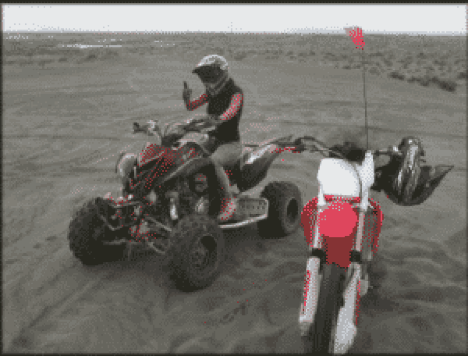 Grant County Sand Dunes and ORV Park Quad rider and motorcycle