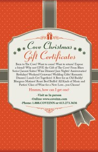 Cove Gift Certificate
