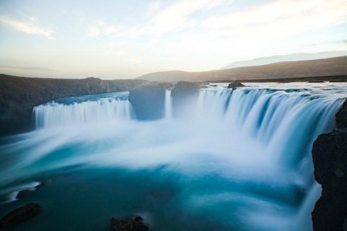 Iceland Gogafoss waterfall