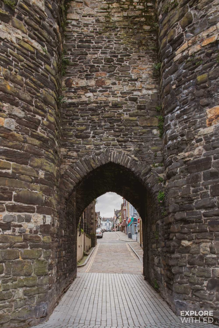 Conwy Town Entrance through the Town Wall