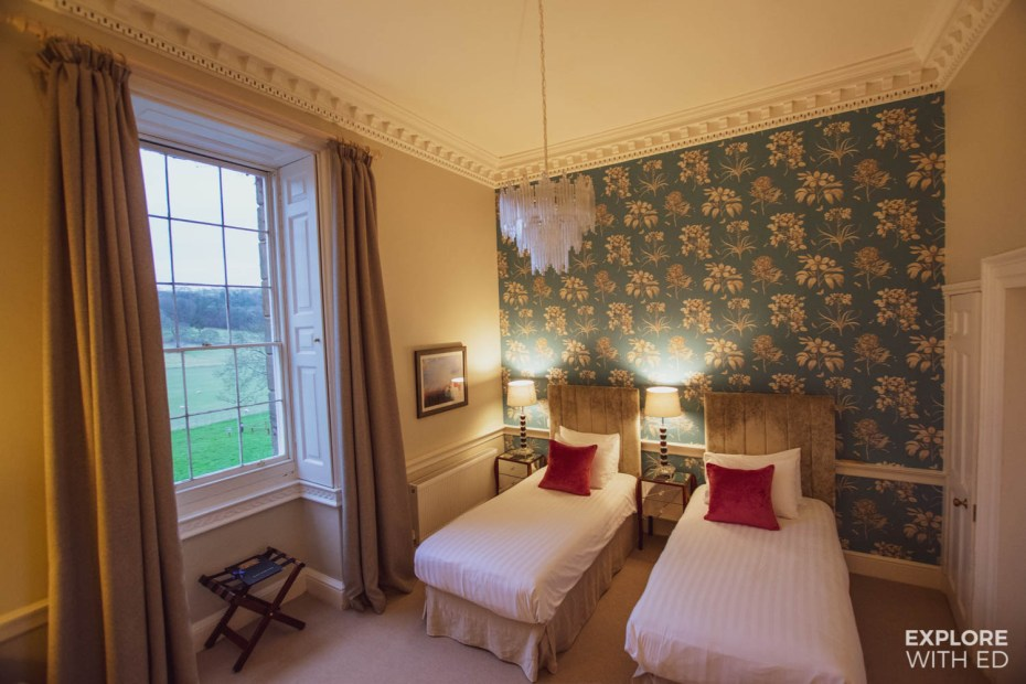 Guest rooms at Nanteos Mansion Country Hotel near Aberystwyth