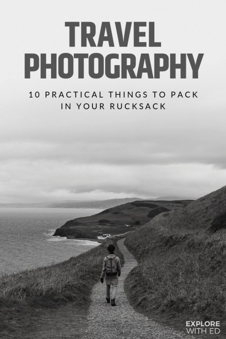 Travel photography packing list plus advertisement feature reviewing a Thorndale Weston Rucksack
