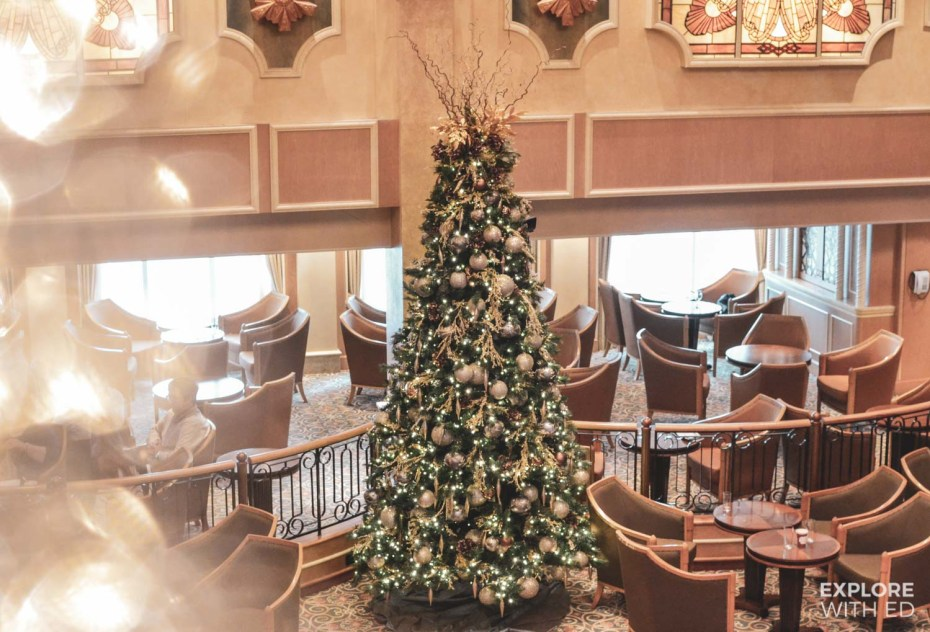 The Queen's Room at Christmas on Cunard Cruises Queen Elizabeth