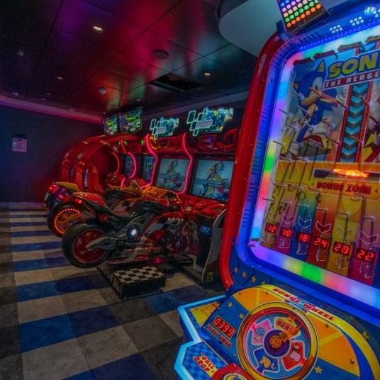 Arcade games room on MSC Bellissima