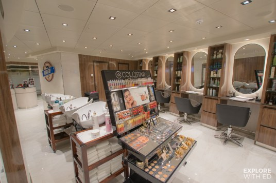 Spa and salon on MSC Bellissima