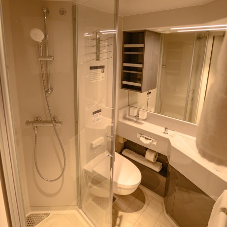 Shower room, Balcony cabin, MSC Bellissima