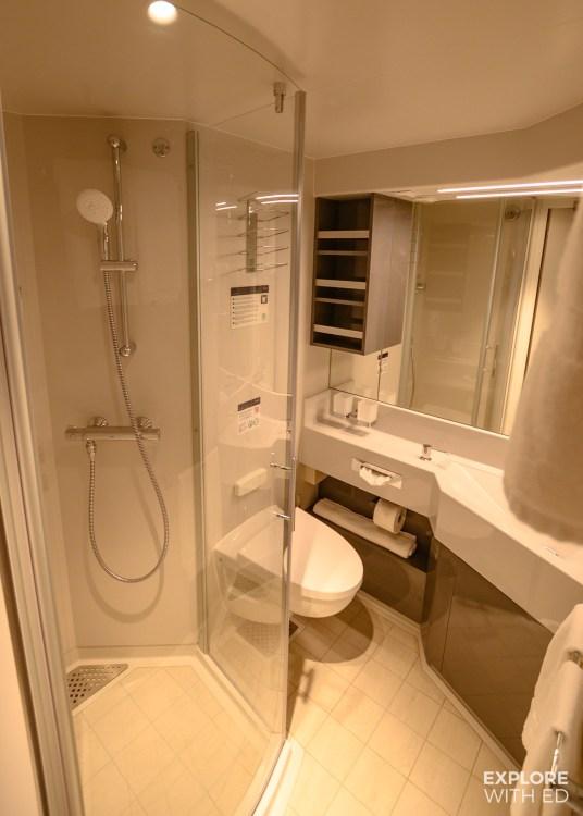 Shower room, Balcony cabin, MSC Bellissima