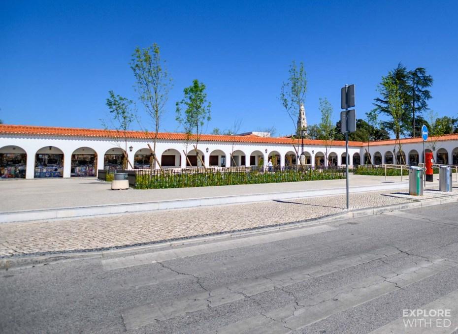 Shopping area in Fatima, Portugal