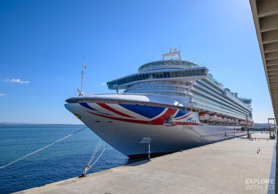 #AD P&O Ventura docked in Lisbon, Portugal