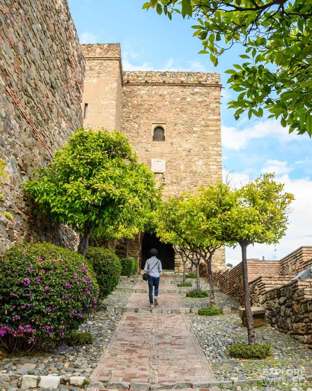 Alcazaba - castle in Malaga, Spain