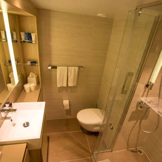Penthouse Veranda cabin restroom on Viking Cruises [ad]