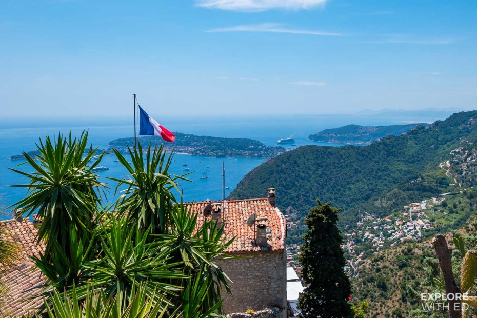 The view towards Villefranche-sur-Mer from Eze