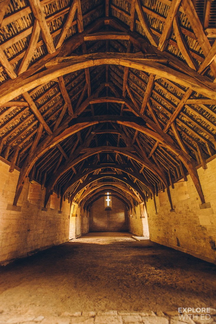 Inside view of the Tithe Barn