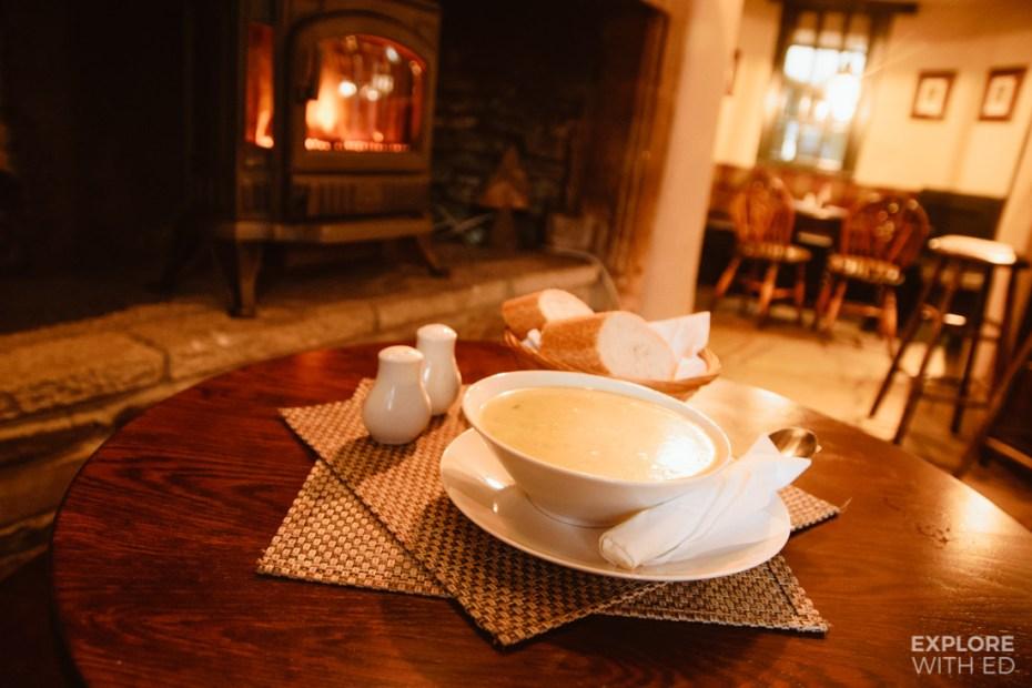 The White Hart pub in Castle Combe