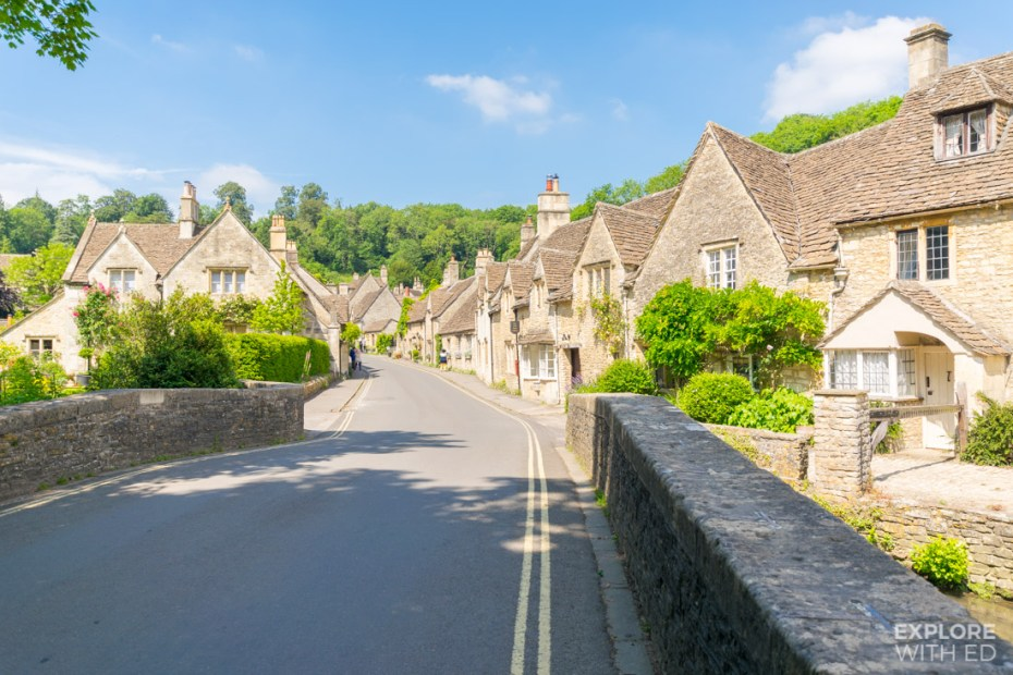 Castle Combe in the summer