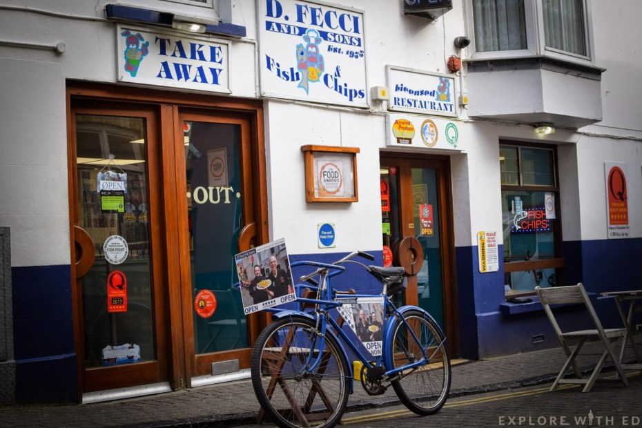 Fish and chip shops in Tenby