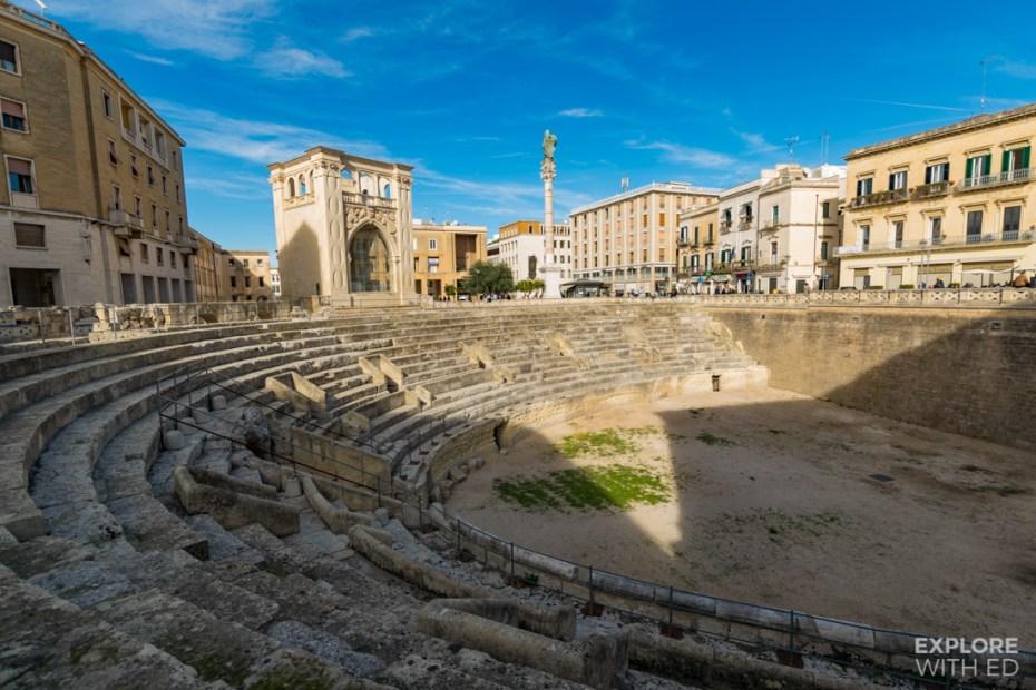 The Roman Amphitheatre in Lecce, Italy