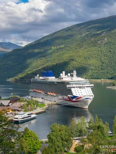 P&O Britannia in Flam, Norwegian Fjords [ad]