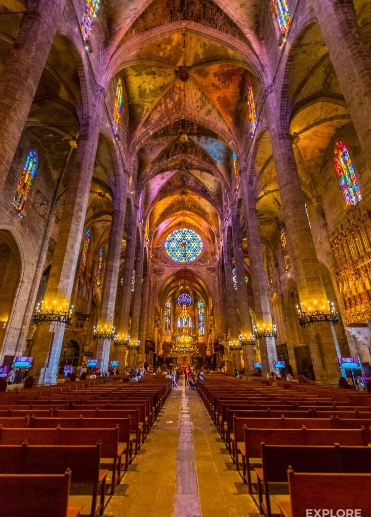 Inside Palma de Mallorca Cathedral