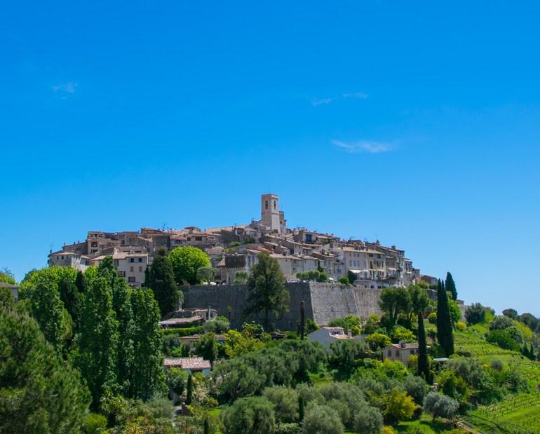 The Medieval Hillside Village of Saint Paul de Vence in the Alpes Maritimes region of Southern France