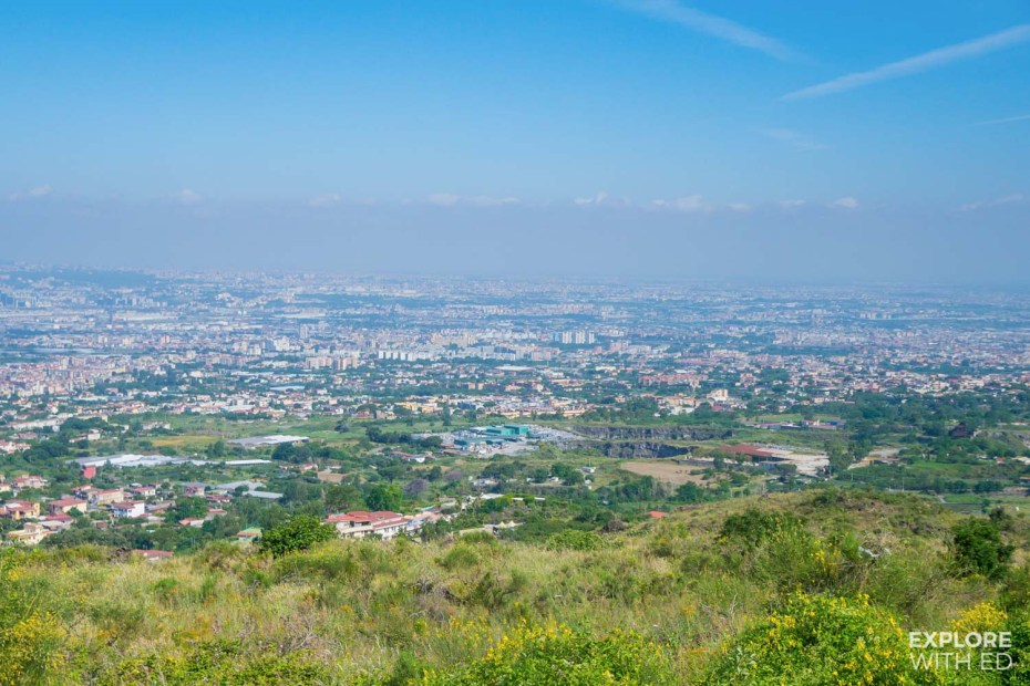 The view of Naples from Mount Vesuvius
