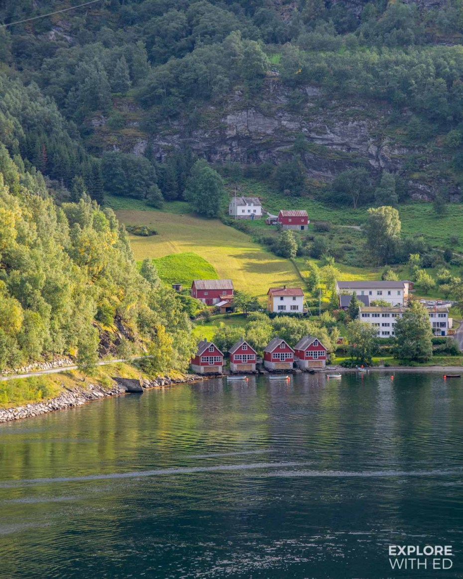 The port of Flam, Norway