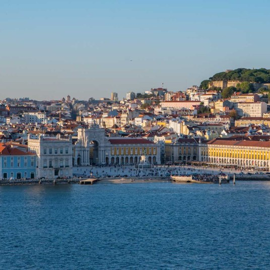 The square in Lisbon