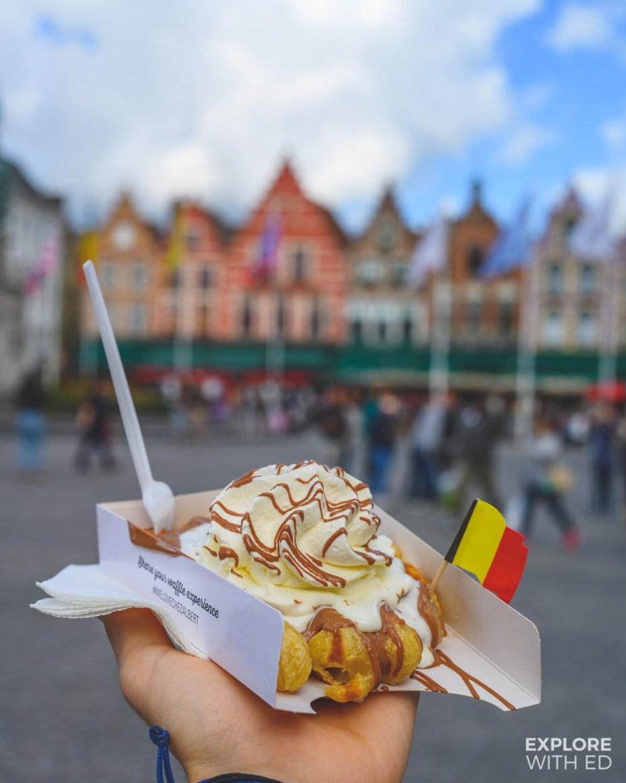 Belgian waffles from Chez Albert in Bruges