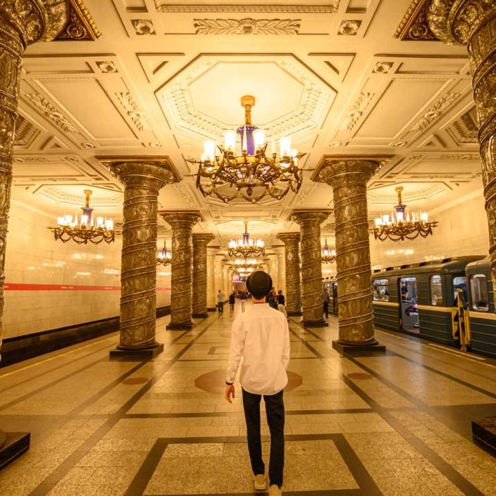 Metro station in Saint Petersburg, Russia
