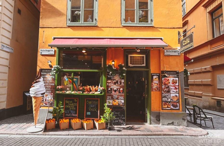 Enjoying 'fika' in Gamla Stan Cafes