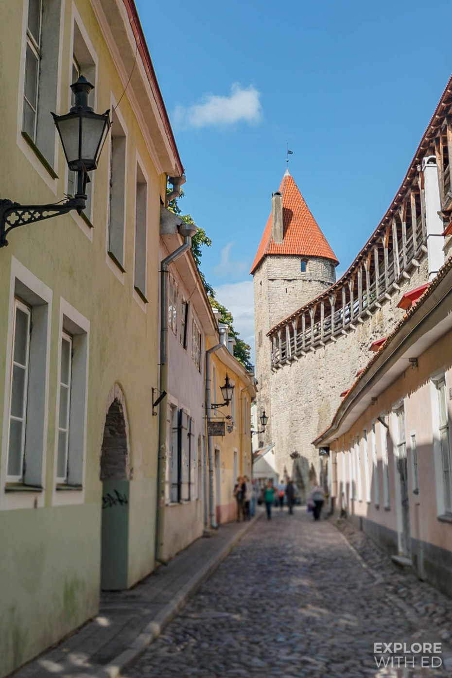 The Hellemann Tower and Town Wall Walkway overlooking Tallinn's streets