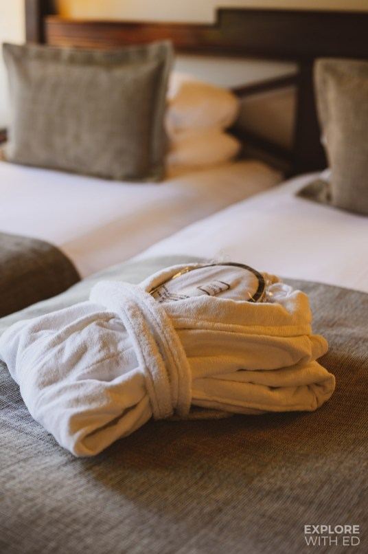 Martins Klooster Hotel robe and slippers